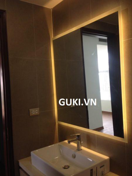 Gương nhà tắm treo tường đèn led hình chữ nhật