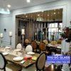 Mẫu gương dán tường trang trí phòng bếp phòng ăn bàn ăn đẹp